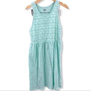 Aqua blue knit sun dress size medium